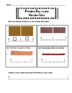Here's a very cool model for using familiar foods (graham crackers, Hershey bars, etc.) to place fractions on a number line.