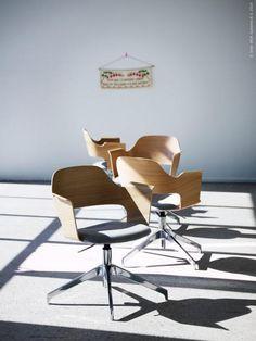 Nyhet! FJÄLLBERGET stol i björkfanér, 1495 kr.  Kommer till IKEA varuhusen i februari 2014.