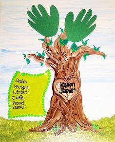 Handprint / Footprint Family Tree Birth by GiftsbyGaby