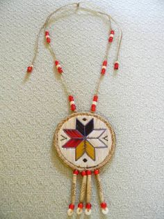 Quilled Micmac Star Medallion by hfmade (Monica Alexander, Métis) on Etsy