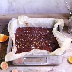 Recipe: Orange & Fig Brownies