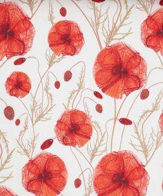 liberti art, lawns, tana lawn, poppies, art fabric, liberty of london, print, flower pattern, hannah poppi