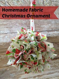 Homemade Fabric Christmas Ornament