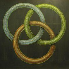 Borromean Rings - Geometry Chalk Drawing Grade 6 Rick Tan Davis Waldorf School