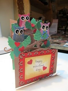 cascading owl card by angelina