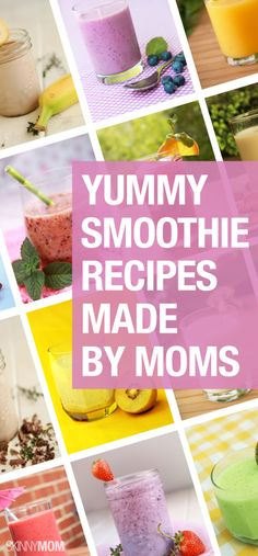 Healthy and delicious homemade smoothies you'll love!