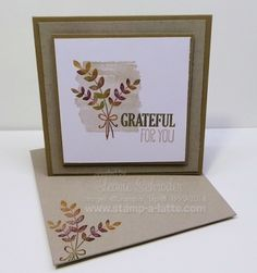 Grateful for You - one of my cards and technques for November Creative Club. Projects for the Latte Creative Club will not all be shown on my blog or Pinterest as they are exclusive to the Club Members.   To get all the details for my Latte Creative Club go to http://www.stamp-a-latte.com/lattecreativeclub/