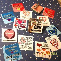 CHD Awareness Pin Choose One Design Congenital Heart by lucky10, $14.99