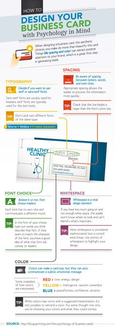 How to Design Your Business Card With Psychology in Mind via MarketingProfs