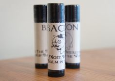 BACON Beeswax Lip Balm Homemade by Luxe Lips by LuxeBodyCareCo, $2.50 lip balm, lux lip, beeswax lip, men gifts, valentine gifts, lipbalm, christma, bacon beeswax, birthday gifts