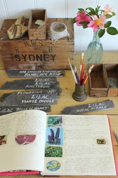 Garden journal idea