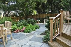 Great urban yard design - http://www.houzz.com/photos/131109/Cathy-Carr--APLD-traditional-landscape-dc-metro