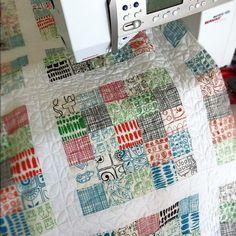 2 1/2 squares Scrap Quilt