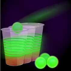 Glow in the Dark Beer Pong Party Pack