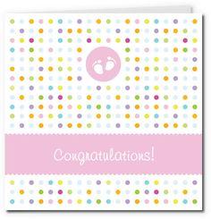 free printable baby cards - tiny feet girl