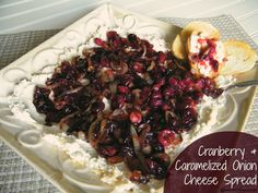 Cranberry & Caramelized Onion Cheese Spread   Who Needs A Cape? #cranberry #appetizer #dip #spread #caramelizedonion