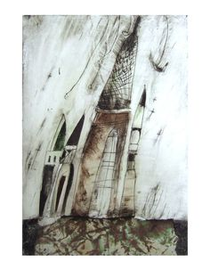 art print  TOWERS 85 x 11 paper by marina826 on Etsy, $15.00