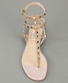 Valentino studded flat sandal _