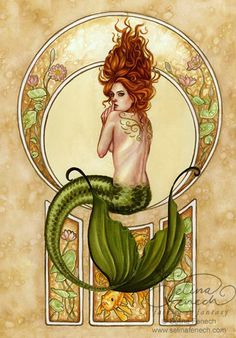 Art Nouveau (sp) Mermaid