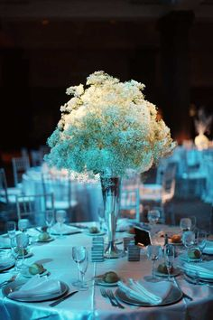 Alison Conklin Photography. ethereal babies breath arrangement