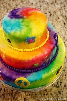 Tye Dye Cake!