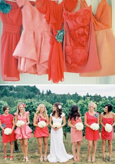 Ombre dresses. I love this and wish I had thought of it before we got the girls dresses.