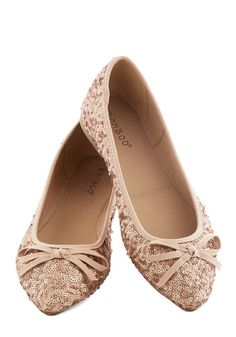Rose gold sequin bow flats? Yes, please!