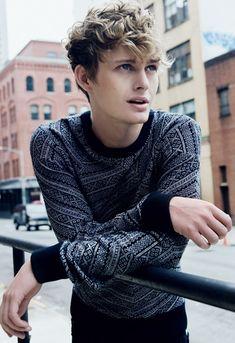 fashion fanat, male poses, boy haircuts, knit sweaters, fashion styles