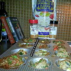 Steve @stevietfitness creates a Flavor God seasoned Coach's Oats oatmeal meatloaf prepared in muffin tins for portion control. Great idea! Thanks for being a fan :] #coachsoats #oatmealmeatloaf
