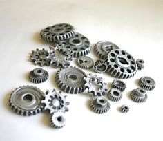 // edible chocolate candy gears