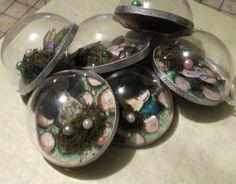 Half fillable ornaments to create bubble ornaments!