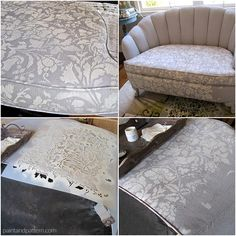 How to paint and stencil upholstered furniture with Chalk Paint®