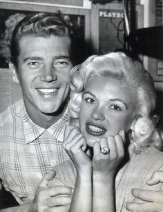 Jayne Mansfield with husband Mickey Hargitay.
