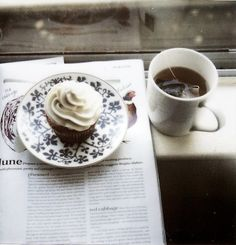 Coffee and cupcakes.