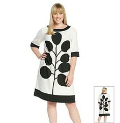 Rehearsal Dinner Dress | London Times® Plus Size Printed Shift Dress available at Herberger's.