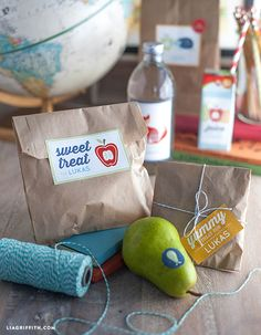Kid's Lunch Label Printables @LiaGriffith