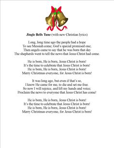 """""""He is Born!""""  new lyrics to the popular tune of Jingle Bells.  I wrote this for my church's children's choir to sing at the Christmas program.  They loved it!  Even more fun to pull out kazoos at the end and hum the chorus!"""