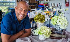 @kennethwingard transforms simple tin cans and Pringles cans into artistic pebble vases! #pebbles #vase #DIY #cans #flowers #outside #homeandfamily #homeandfamilytv