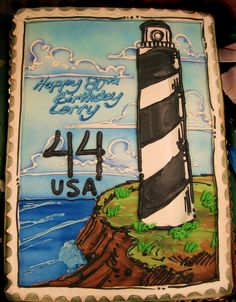 Lighthouse cake for moms bday