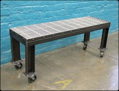 Thigh-Scraper Steel Bench by RiggoDesign, via Flickr