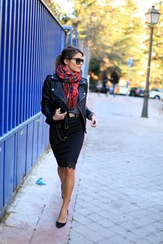 BLACK PENCIL SKIRT by Jessie Chanes on Fashion Indie