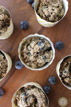 Zucchini Blueberry Oat Muffins. Vegan. Gluten Free.
