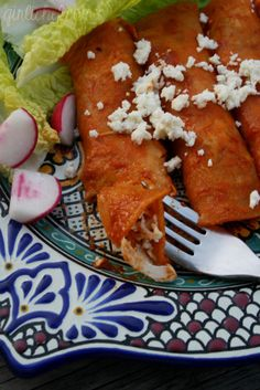 {Enchiladas de Chile y Ajo} from @Girlichef