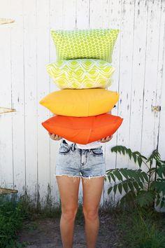 Outdoor Pillows 3 ways (and Envelope Pillow DIY) | A Beautiful Mess