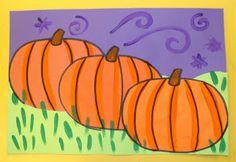 pumpkin patch, art project, art lesson, colors, fall, pumpkins, pumpkin painting, mrspicasso art, art rooms