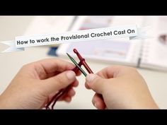 How to work the Provisional Crochet Cast On provision crochet, provision cast, crochet hook, crochet cast