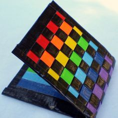 Rainbow Duct Tape Wallet.