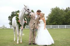 love the horse in this portrait! | Christina Leigh Events