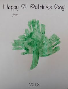 Free craft blank for St. Patrick's Day