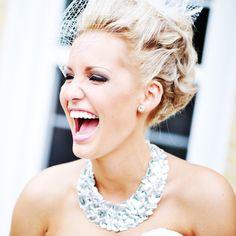 idea, statement necklaces, birdcage veils, weddings, brides, girl crush, bibs, bib necklaces, hair